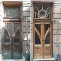 У Франківську 110-річна пам'ятка архітектури отримала відреставровані двері