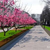 У Пасічній хочуть облаштувати сучасну пішохідну алею. Фото