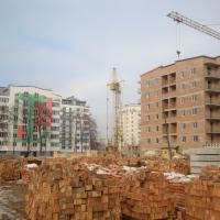 Стан будівництва ІІІ черги житлового комплексу поблизу парку імені Шевченка на лютий