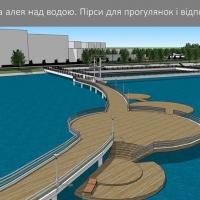 У Франківську показали як виглядатиме нова відпочинкова територія міського озера. Фото, відео