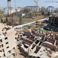 Фотозвіт з будівництва ІІІ черги житлового комплексу поблизу парку імені Шевченка станом на квітень