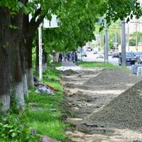 У Пасічній розпочалося будівництво велодоріжок. ФОТО