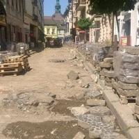 В Івано-Франківську розпочався капітальний ремонт вулиці Тринітарської. Фото