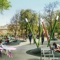 У центрі Франківська за 600 тис грн облаштовують сучасний майданчик для дітей. Відео