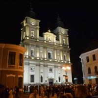 У Франківську підсвітили фасад Катедрального собору. Фото