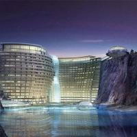 У Шанхаї на місці колишнього кар'єру будують готель з підводними поверхами. Фото