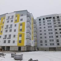 Хід будівництва житлового комплексу поблизу парку імені Шевченка, станом на лютий