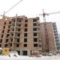 Хід будівництва будинку №42 ЖК в районі парку Шевченка, станом на лютий
