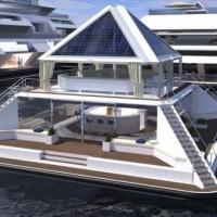 Дизайнер представив проект сучасного будинку, який можна будувати на воді