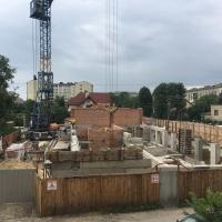 """Хід будівництва житлового будинку по вул.Берегова від БК """"Франківський Дім"""""""