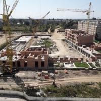 Стан будівництка ЖК поблизу парку ім. Шевченка у серпні