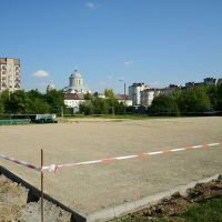 В Івано-Франківську на території ЗОШ №22 будують футбольне поле