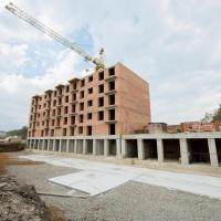 Стан будівництва житлового комплексу поблизу парку Шевченка у вересні