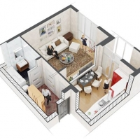 "1-кімнатна квартира в ЖК ""Crystal River"" з першим внеском 3500$"
