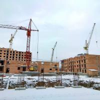 Фотозвіт з будівництва IV черги ЖК «7 Квартал» поблизу парку Шевченка в січні