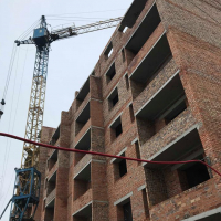 Хід будівництва житлового будинку по вул. Берегова в лютому 2019