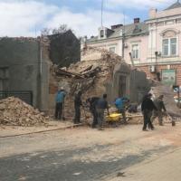 У центрі Коломиї обвалилася стіна старого будинку