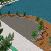 На міському озері розпочали реконструкцію основного пірсу. ФОТО