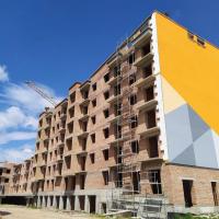 Хід будівництва IV черги ЖК «7 Квартал» поблизу парку Шевченка в липні 2019