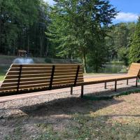 У міському парку Івано-Франківська обладнали нову відпочинкову зону