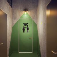 У невеликих кафе можуть дозволити проектувати санвузли без поділу на жіночі та чоловічі