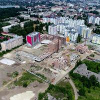 """МЖК Експрес-24 показали стан будівництва ЖК """"Паркове містечко"""" з неба. ВІДЕО"""