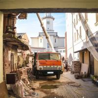 В центрі Івано-Франківська відновлюють пам'ятку архітектури. ФОТО