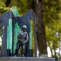 "У Франківську рятувальникам презентували макет пам'ятного знаку ""Пожежникам-рятівникам"". ФОТО"
