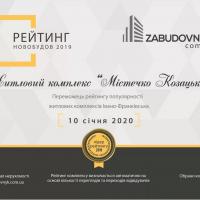 «Містечко козацьке» - лідер серед новобудов у 2019 році