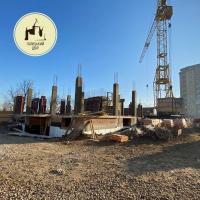 Хід будівництва ЖБ на перехресті вулиць Надрічної і Богдана Хмельницького від БК «Галицький двір»