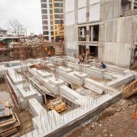 Хід будівництва ЖК Lystopad у березні. ФОТО