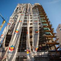 "Хід будівництва ЖК ""HydroPark DeLuxe"" у березні. ФОТО"