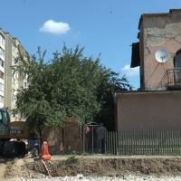 Об'єднання бульварів у Франківську. На місці викопали два котловани. ФОТО