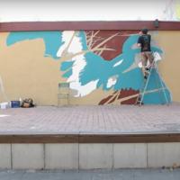 Антична скульптура у центрі міста: у Франківську з'явиться новий мурал (ВІДЕО)