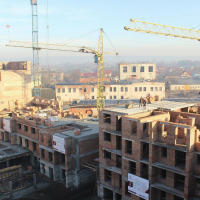 """Хід будівництва житлового району """"Княгинин"""" в січні. ФОТО"""