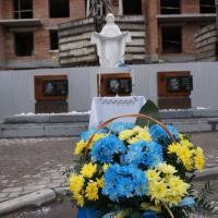 """В мікрорайоні """"Княгинин"""" освятили пам'ятний знак загиблим підпільникам ОУН"""