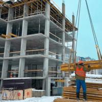 Стан будівництва житлового комплексу Chocolate в лютому. ФОТО