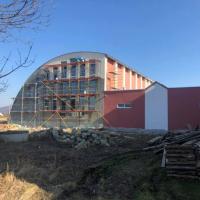 В Делятинській громаді триває будівництво спортзалу для школярів. ФОТО