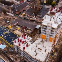Хід будівництва ЖК Family Plaza в квітні. ФОТО