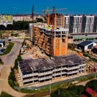 Стан будівництва житлового комплексу Chocolate в липні. ФОТО