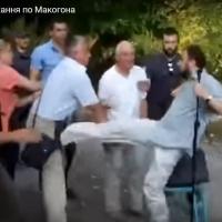 Гавриш VS Замковий: бійку під час громадських слухань ДПТ на Макогона, 23А вивчатиме прокуратура