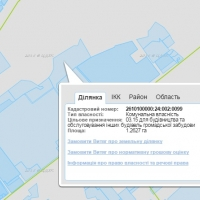 Земельна ділянка на кадастровій карті