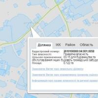 Земля Торгового центру на кадастровій карті
