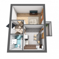 Однокімнатна квартира, 36,7м²