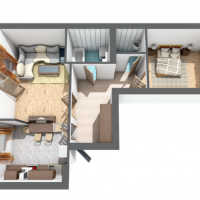 Двокімнатна квартира, 57м²