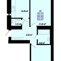 63,87 м²