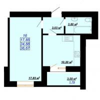 36,67 м²
