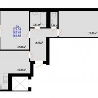 69, 89 м²