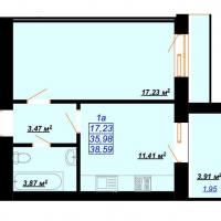 38,59 м²