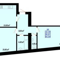 64,54 м²